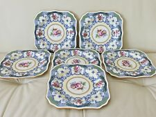 ANTIQUE ROYAL DOULTON 1929 SQUARE LUNCHEON SALAD PLATES SET OF 6