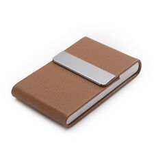 Men Women Leather ID Credit Bank Cards Holder Protective Case Sleeve