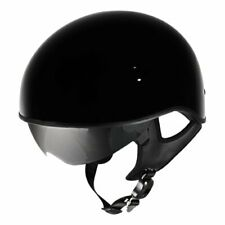 HARLEY DAVIDSON Mens 98212-10VM 1/2 Helmet w/Retr Sun Shield Gloss Black Sz S.