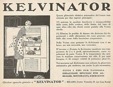 Z0322 Ghiacciaia elettrica KELVINATOR - Pubblicità del 1931 - Advertising