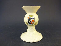 Arcadian China Model of a Thistle Vase with Babbacombe Crest