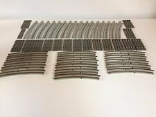 LEGO 7851 7855 CURVED ELECTRIC RAILS GRAY 12V TRAIN TRACK x16
