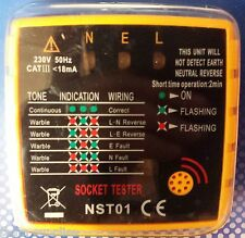 PRO MAINS PLUG UK SOCKET TESTER 13A with Audible Buzzer & LED