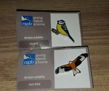 RSPB Pin Badges Red Kite Blue Tit New
