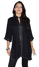 Ethnic Caftan Women Tunic Shirt Summer Cotton Moroccan Casual Fashion X-Large