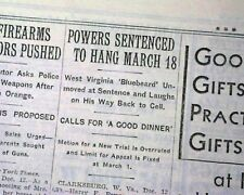 HARRY POWERS Lonely Hearts Ad Serial Killer Death HANG Sentence 1931 Newspaper