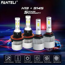 Combo H13 9145 CREE 6K LED Headlight High Low Beam Fog Lights 2600W 390000LM Kit