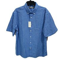 $85 Daniel Cremieux Men's Signature S/S Button Down Shirt Large Blue Purple