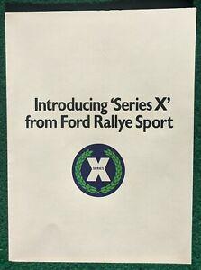 Ford RS 'Series X' Rallye Sport Escort Capri Cortina U.K Sale Brochure 1970's