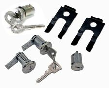 NEW 1965 - 1966 Ford Mustang Lock set doors & Ignition & Trunk set, Keys, Clips