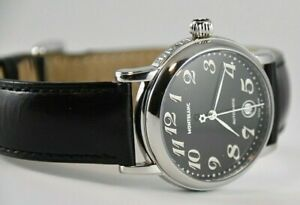 Pre-owned MontBlanc Meisterstuck Automatic 7019 Stainless 35mm Black Dial Watch