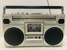 Vintage Hitachi Boombox Trk 7020H Am/Fm Stereo Cassette Player/Recorder *Works!