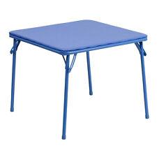 Kids Blue Folding Upholstered Card Game Table [JB-TABLE-GG]