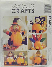 McCalls Pattern #2945 Crafts Halloween Thanksgiving Fall Pumpkin Pokes