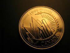 Canada 1999 Millennium December Gem Mint 25 Cent Coin IDJ.