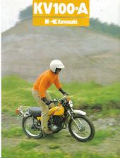 Kawasaki KV100A ( A8 )  Sales Brochure, Original NOS