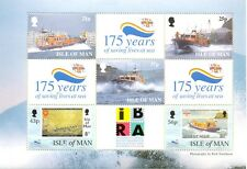 Isle of Man IBRA PANE mnh 1999 Lifeboats with 836 and 838
