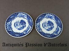 B20141068 - 2 assiettes plates Maastricht décor Richmond - Très bon état