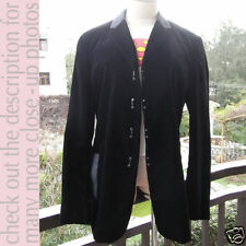 EMPORIO ARMANI MEN'S Black Velvet Hooks Jacket!I48/M