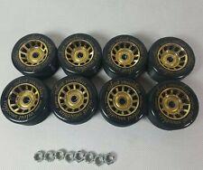 Roller Skating Skate Wheels-Velvet Smoothies -Set of 8 with bearings-62mm x 30mm
