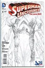 SUPERMAN UNCHAINED #5 1:300 SKETCH VARIANT JIM LEE DC COMICS 2015 NM