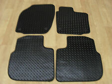 Skoda Rapid 2012-on Fully Tailored RUBBER Car Mats in Black.