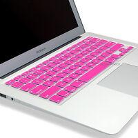 "2x Pink&Clear TPU Keyboard Cover Skin for Macbook Air Pro 11"" 12'' 13'' 15''"