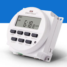 7 Day Heavy Duty Digital Electric Programmable Timer Dual Outlet Switch