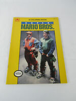 Vintage Golden Coloring Book Super Mario Bros The Movie Unused Nintendo New NES