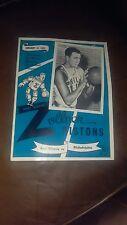 1951 NBA Fort Wayne Pistons vs Philadelphia Warriors Basketball Program