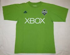 Adidas XBOX Seattle Sounders Men sz Small T-Shirt Dempsey #2 Green Soccer shirt