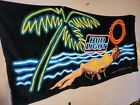 Vtg 90s bud light beach towel 1995 NOS NWOT mint vibrant and rare pattern 60x29