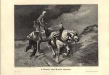1907 E gemmothérapie ~ vom gewitter uberascht ~ pris dans la tempête-Allemand Artwork