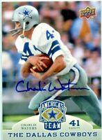 Charlie Waters 2009 Upper Deck Americas Team Autograph SSP Dallas Cowboys 💎