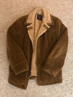 VTG Mens Grande Bay Corduroy Green Wool Coat Sz 36 Made In Canada 70s Trucker