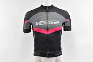 Verge Women's Primo Power S/S Cycling Jersey, Black/Grey/Fuschia, XS, Brand New