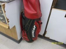 Vintage Dunlop Maxfli Golf Bag Vinyl With Wood Covers And Hood