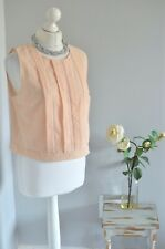 OASIS Peach textured cropped blouse UK 16