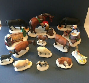 Christmas Heritage Village Porcelain Figurine Farm Animals Blacksmith Dept 56