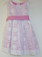 New In Bag Kelly's Kids Arianna White Eyelet Sash Dress Girl's Size 3-4