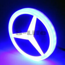 4D LED Car Tail Logo Blue Light Badge Emblem Light For Mercedes-Benz S350 S300L