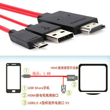New Samsung Galaxy S3 4 Note 2 3 Micro USB MHL to HDMI TV AV Cable Adapter HDTV
