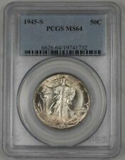 1945-S Walking Liberty Silver Half Dollar 50c PCGS MS-64 Lightly Toned 1C