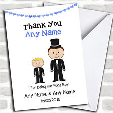 Thank You For Being Our Page Boy Thank You Customised Card