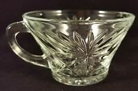 VINTAGE STARBURST STYLE PUNCH BOWL REPLACEMENT CUPS CLEAR GLASS ( 2 Available)