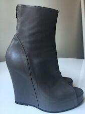 Ann Demeulemeester Boots Wedges Heels Gray Size 40 us 10