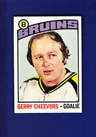 Gerry Cheevers HOF 1976-77 O-PEE-CHEE OPC Hockey #120 (VGEX+) Boston Bruins