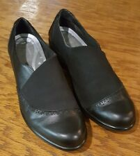 Naot Kirei Women Black Shoes Leather Suede Madras Slip On Sz. 42/11