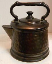 "Vintage McCoy Coffee Pot Cookie Jar Metallic Finish 9.25"" x 7.5"" Very Good Cond"