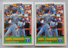 1993 Duracell Batteries Darryl Strawberry Dodgers Baseball Card Lot of 2